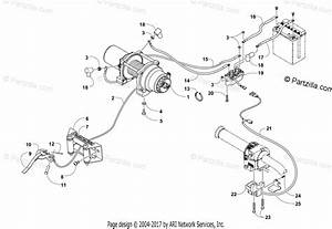 Arctic Cat Atv 2015 Oem Parts Diagram For Winch Assembly