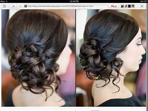 Curled side bun - formal updos :) | Quinceañera ...