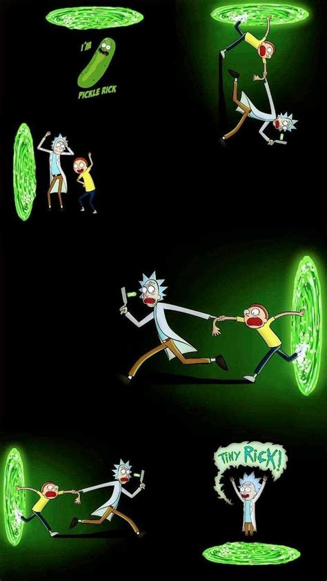 pin  spask  rick mortys party rick morty
