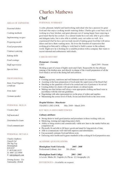 chef resume sample examples sous chef jobs