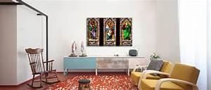 Deco Mural Salon : tableaux deco pas cher ~ Teatrodelosmanantiales.com Idées de Décoration