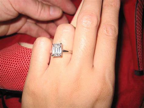 Emerald Cut Diamond With Plain Band // I Think I Like The
