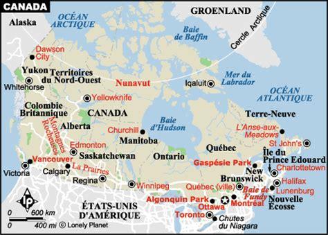 Carte Du Canada Avec Villes by Canada Guide De Voyage Canada Lonely Planet