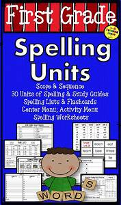 First Grade Year Long Spelling Units  Study Guides