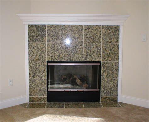 granite tile fireplace surround fireplace design ideas