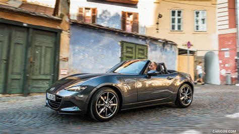mazda mx  roadster color machine grey front