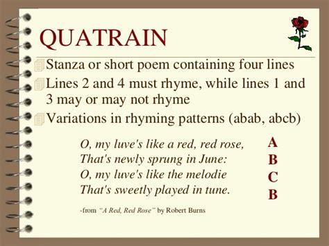 pics for gt quatrain poems for exles teaching
