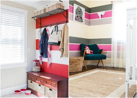 Flur Zweifarbig Streichen Ideen by 65 Wand Streichen Ideen Muster Streifen Und Struktureffekte