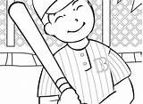 Baseball Coloring Diamond Printable Pages Getcolorings Player Pa Print sketch template