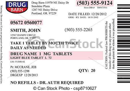 vectors illustration  prescription label vector