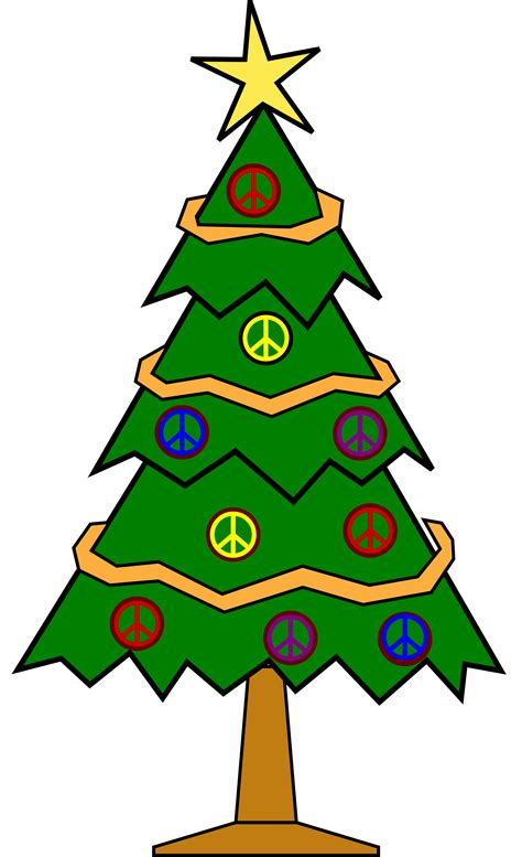 clip art xmas christmas tree 112 peace symbol