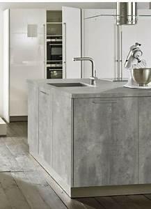 Küche Beton Arbeitsplatte : beton cir g nstige arbeitsplatte in beton optik k che beton k che graue k chen und ~ Frokenaadalensverden.com Haus und Dekorationen