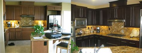 before and after kitchen cabinets diy painting kitchen cabinets before and after pics 7623