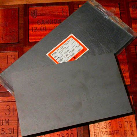 huge slabs  pyrolytic graphite  sample   element carbon   periodic table