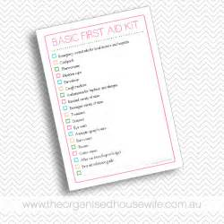 Basic First Aid Kit Checklist