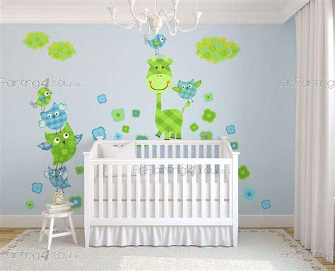 muurstickers babykamer kinderkamer giraffe vogels nl