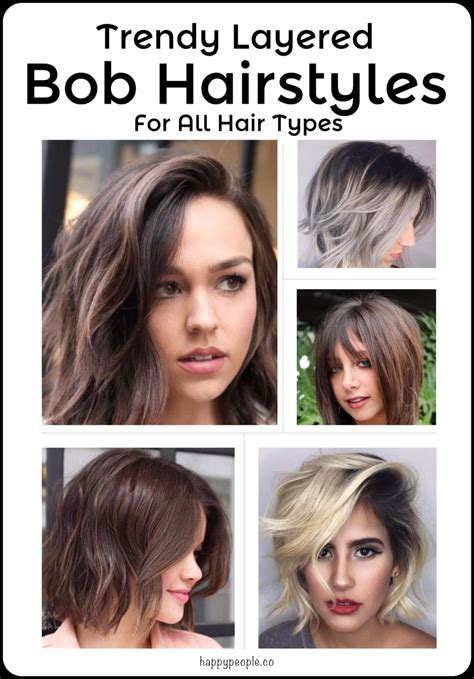 Trendy Layered Bob Hairstyles For All Hair Types