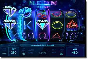 Neon Reels review 3D space themed real money online slots