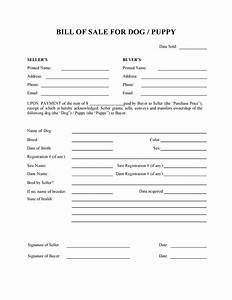 Free dog or puppy bill of sale form pdf docx for Dog breeding contract template