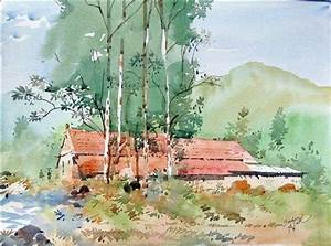 indian watercolor landscape paintings - Google Search ...