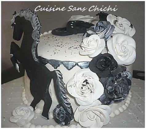 cuisine chimique gâteau thème le cheval