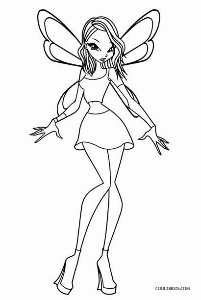 Winx Coloring Pages Club Printable Bloom Drawing