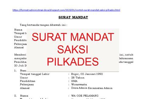 Share & embed contoh surat mandat ipnu. Contoh Surat Mandat Saksi Pemilu 2020 - Berbagi Contoh Surat