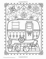 Coloring Camper Pages Trailer Wheel Printable 5th Getdrawings Getcolorings Popular Tag sketch template