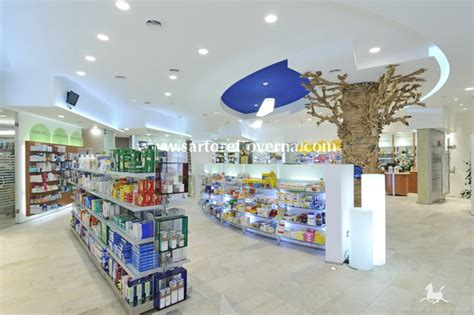Wood False Ceiling by 400 Sqm In Rome The Third Lapucci Pharmacy Sartoretto