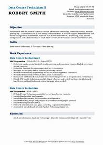 Ccna Resume Sample Data Center Technician Resume Samples Qwikresume