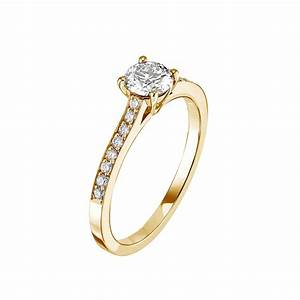 gemmyo bague clelia or jaune 18 cts diamant With bague or
