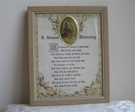 vintage motto art print  house blessing poem