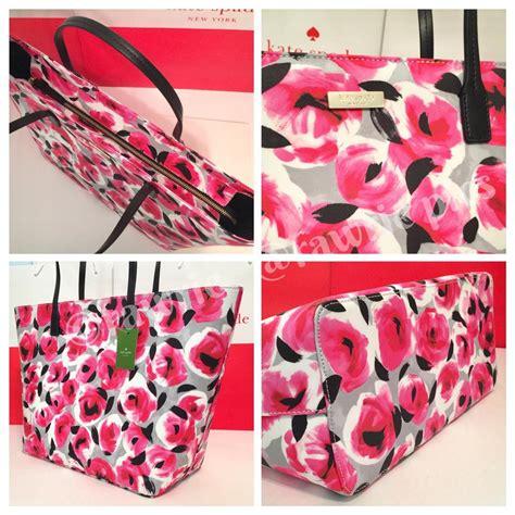 kate spade large margareta roses tote and matching wallet pink travel bag sale 48 off