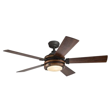 kichler ceiling fans remote control not working shop kichler barrington 52 in distressed black and wood