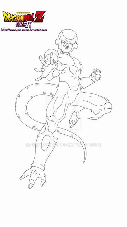 Golden Dragon Goku Freezer Ezio Lineart Drawing