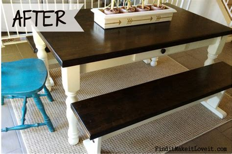 stain  table farmhouse table makeover find