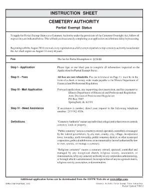 illinois religious exemption form illinois cemetery exemption forms fill online printable