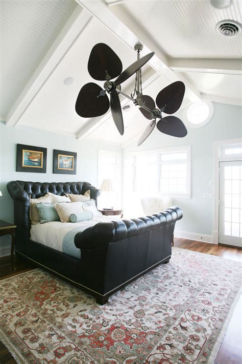 cool ceiling fans living room tropical  beige curtains