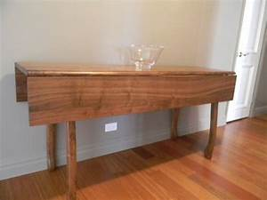 Hand Crafted Walnut Drop Leaf Dining Table By Drew Lambert