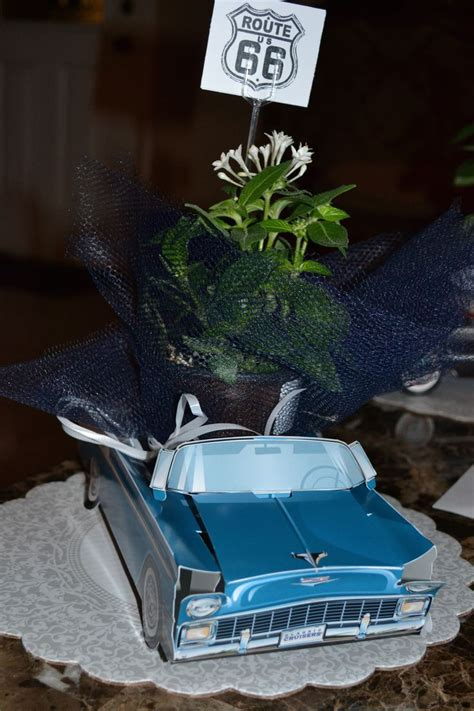 car centerpieces ideas  pinterest cars trucks