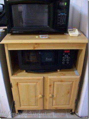 microwave cart    repurposed life