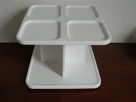 Tupperware Spice Rack by Tupperware Spice Rack Carousel 2 Tiered White Holds 8