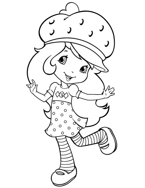 strawberry shortcake coloring pages coloring pages  kids