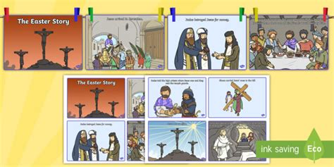 washing  easter story sequencing cards teacher