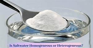 Is Salt Water Homogeneous Or Heterogeneous   Important