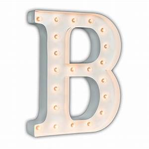 White 24 inch letter b marquee light by vintage marquee lights for B marquee letter