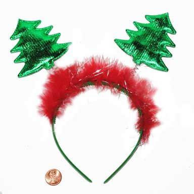 christmas tree marabou head bopper party supplies
