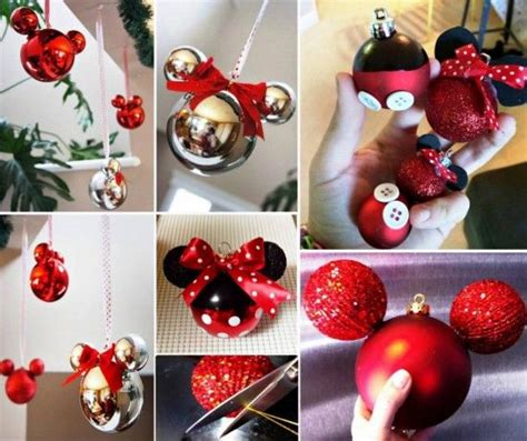 diy mickey  minnie mouse ornaments pictures