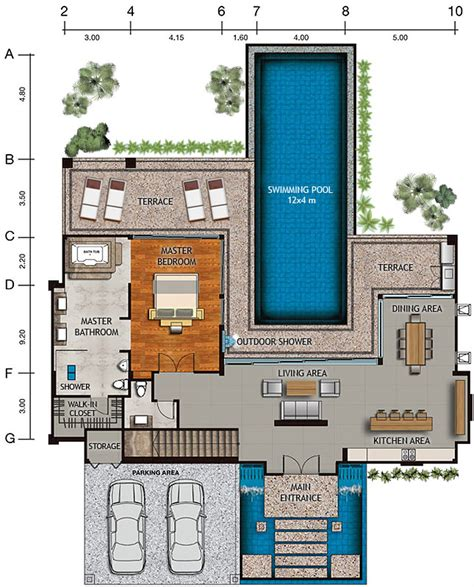 Villa Floor Plan by House And Site Layouts Master Plan Vista Mar