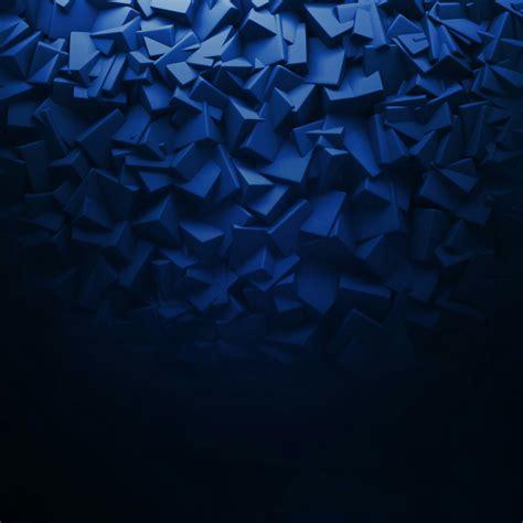 3d elements in blue abstract qhd wallpaper wallpaper